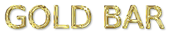 Font B Zar Gold Bar Logo Preview