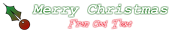 Font Courier Christmas Symbol Logo Preview