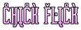 Font ForeignSheetMetal Chick Flick Logo Preview