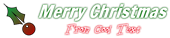 Font Francois One Christmas Symbol Logo Preview