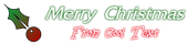 Font Friz Quadrata Christmas Symbol Logo Preview