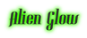 Font Gladifilthefte Alien Glow Logo Preview