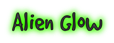Font GoodDog Alien Glow Logo Preview