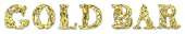 Font Letters Animales Gold Bar Logo Preview