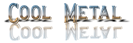 Font README Cool Metal Logo Preview