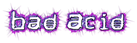 Font Stock Quote Bad Acid Logo Preview
