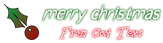 Font Under Christmas Symbol Logo Preview