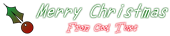Font うに Uni Christmas Symbol Logo Preview