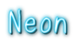 Font うに Uni Neon Logo Preview