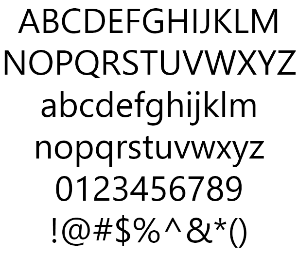 백묵 돋움 Baekmuk Dotumu Example