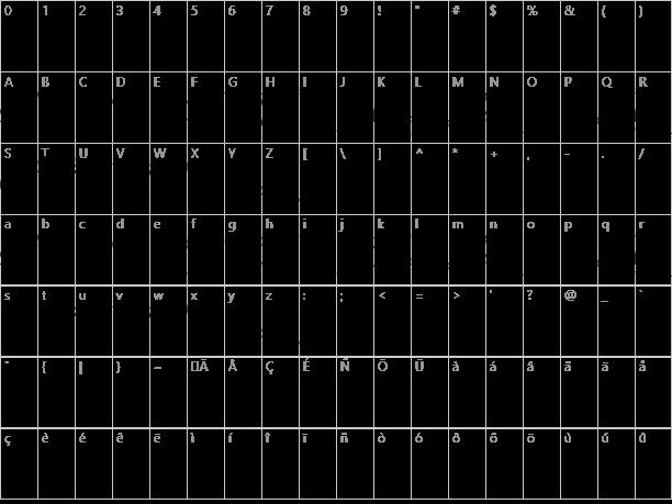 Caslon Initials Character Map