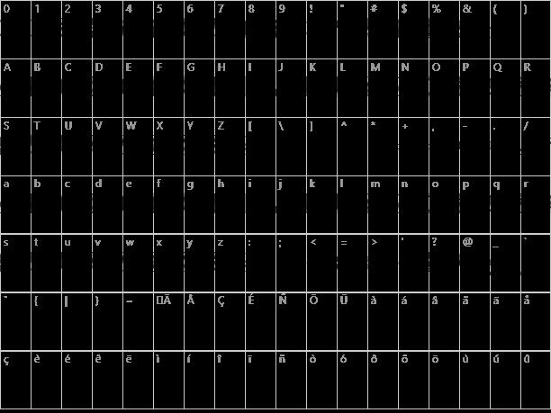 Joy Circuit Character Map