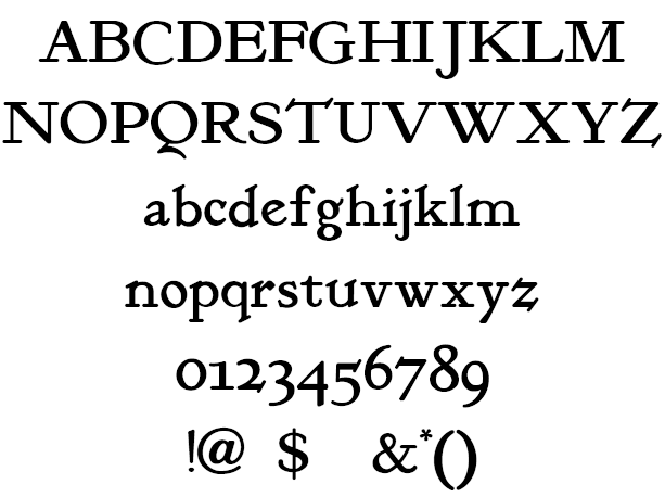 KelmscottRoman Example