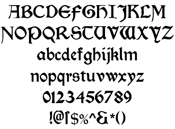 Morris Roman Black Example