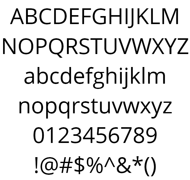 Open Sans Example