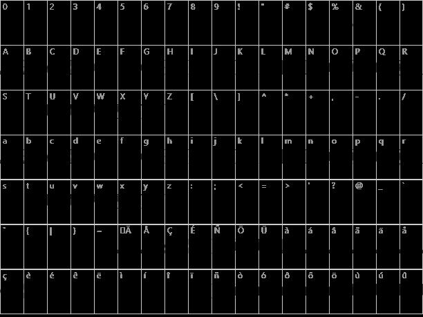 BonJovi Character Map