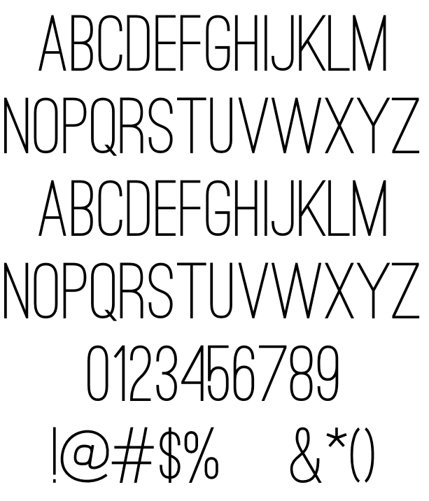 Ostrich Sans Example