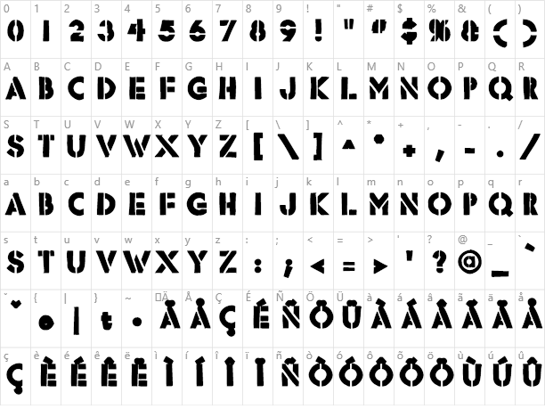 Rafika Character Map