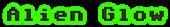 Font Adore64 Alien Glow Logo Preview