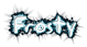 Font Akbar Frosty Logo Preview