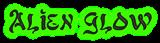 Font Alfred Drake Alien Glow Logo Preview