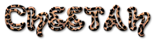 Font Alfred Drake Cheetah Logo Preview