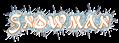 Font Alfred Drake Snowman Logo Preview