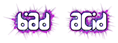 Font Amina Bad Acid Logo Preview