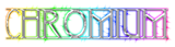 Font Avignon Chromium Logo Preview