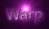 Font B Titr Warp Logo Preview