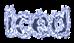 Font B Zar Iced Logo Preview