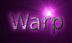 Font B Zar Warp Logo Preview