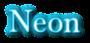 Font Baskerville Neon Logo Preview