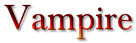 Vampire Logo Style