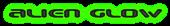 Font Beware Alien Glow Logo Preview