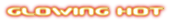 Font Beware Glowing Hot Logo Preview