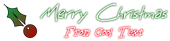 Font BigMisterC Christmas Symbol Logo Preview
