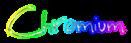 Font BigMisterC Chromium Logo Preview