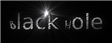 Font Black Mail Black Hole Logo Preview