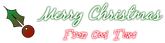 Font Blackjack Christmas Symbol Logo Preview