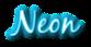 Font Blackjack Neon Logo Preview