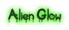 Font Blood Alien Glow Logo Preview