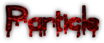 Font Blood Particle Logo Preview