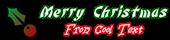 Font Bonzai Christmas Symbol Logo Preview