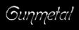 Font Boomerang Gunmetal Logo Preview