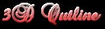 Font Brock Script 3D Outline Gradient Logo Preview