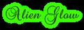 Font Brock Script Alien Glow Logo Preview