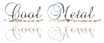 Font Brock Script Cool Metal Logo Preview