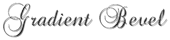 Font Brock Script Gradient Bevel Logo Preview