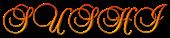 Font Brock Script Sushi Logo Preview